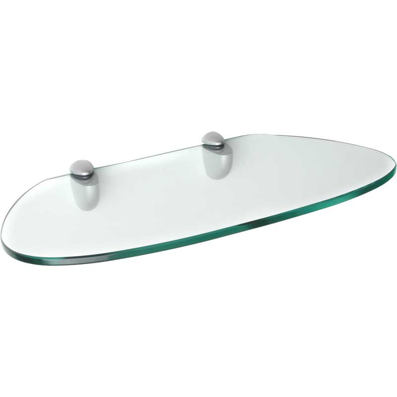Floating Shelf Kidney Shaped Glass In Wall Mounted Shelves