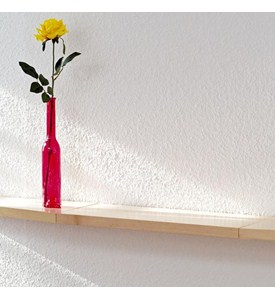 Floating Wood Display Shelf - Beechwood Image