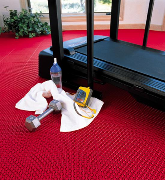 Interlocking Garage Floor Tiles   Drain Pattern (Set Of 40) In Garage Floor  Protection