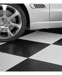 Interlocking Garage Floor Tiles - Tire Tread