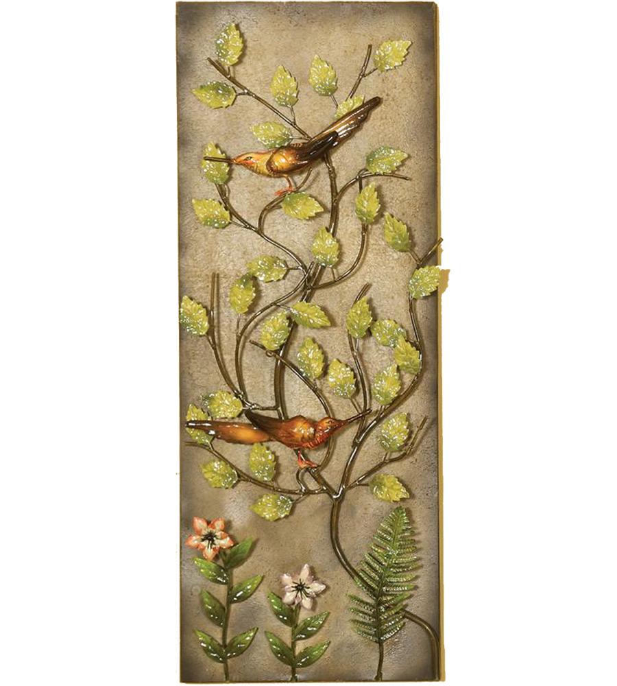 Flower Wall Paneling : Flower wall panel in metallic art