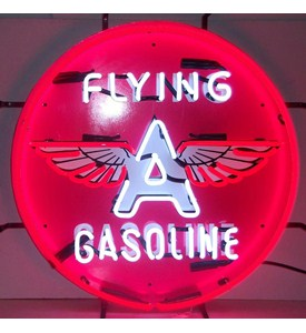 Flying A Gasoline Neon Sign by Neonetics Image