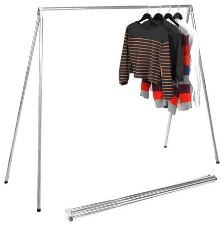 Folding Garment Rack In Clothing Racks And Wardrobes