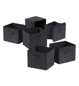Foldable Fabric Shelf Bins with Handle (Set of 6) Image