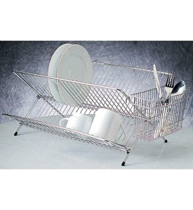 Folding Stainless Steel Dish Rack Image