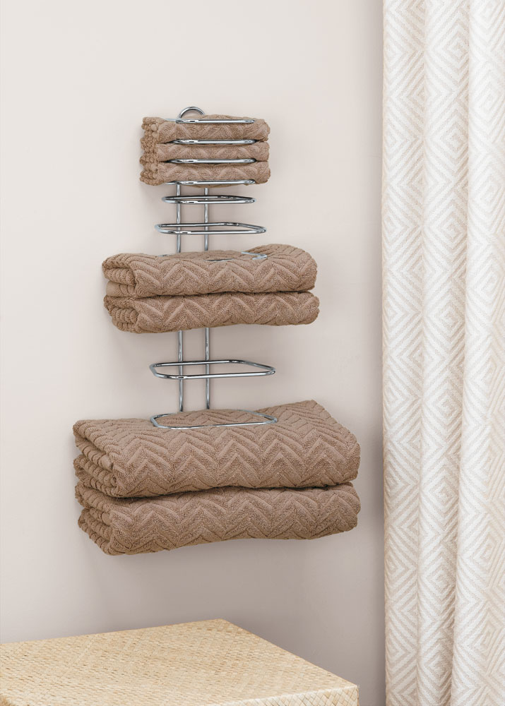 folded towel rack in wall towel racks. Black Bedroom Furniture Sets. Home Design Ideas