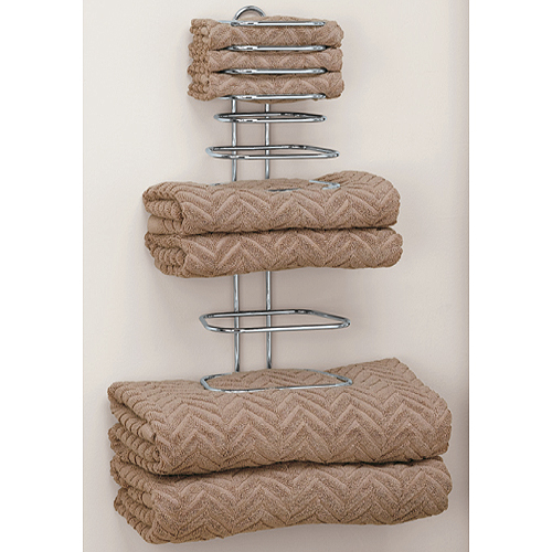Folded towel rack in wall towel racks for Bathroom towel storage