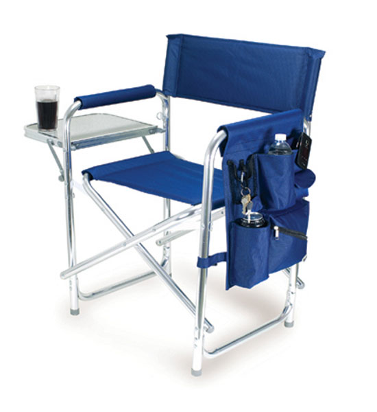 Folding Camping Chair Blue In Picnic