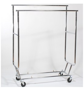 Folding Garment Rack - Dual Hang Rails Image