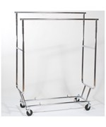 Folding Garment Rack - Dual Hang Rails