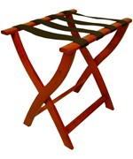 Folding Luggage Rack - Cherry Finish