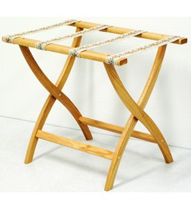 Wooden Luggage Stand Image