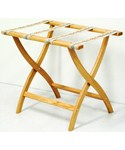 Folding Luggage Rack - Oak