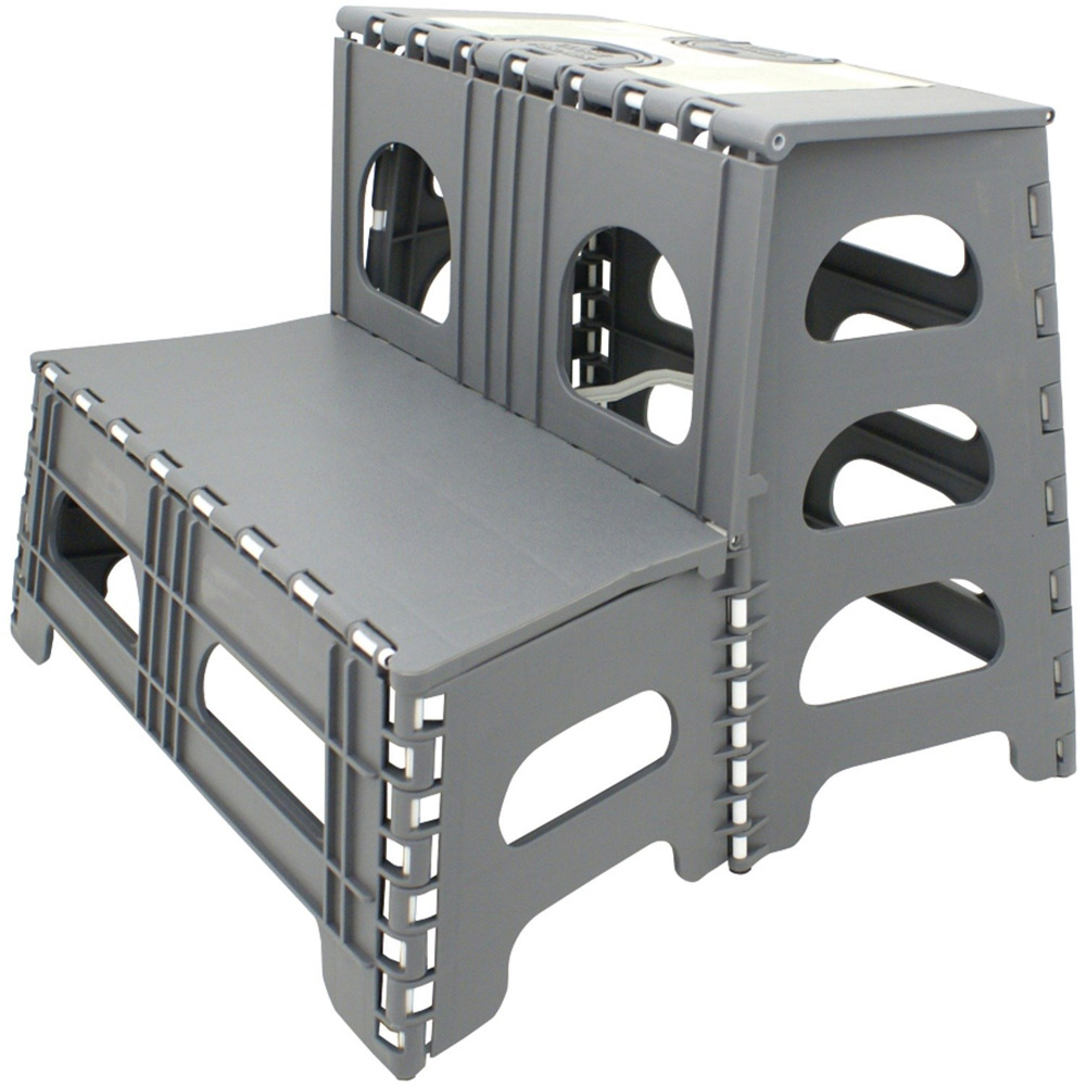 Folding Two Step Stool Gray In Step Stools