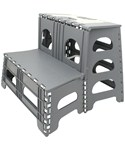 Folding Two Step Stool - Gray