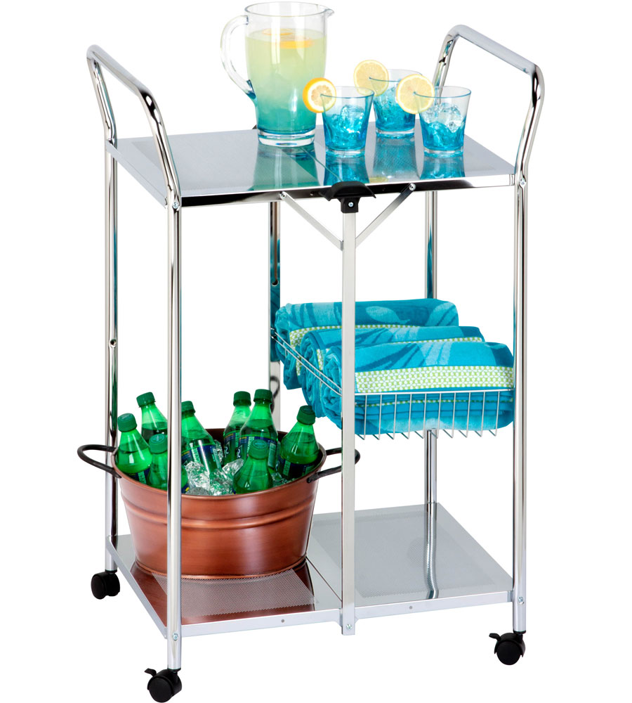 Folding Utility Cart in Restaurant Utility Carts