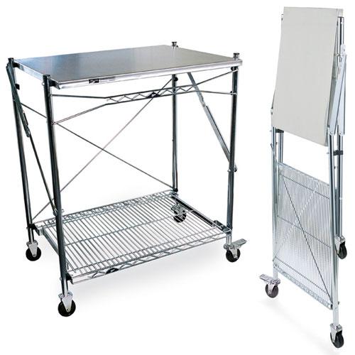 Intermetro Stainless Steel Folding Work Table In