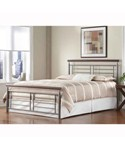 Contemporary Metal Bed - Cherry