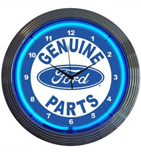Ford Genuine Parts Neon Clock Image