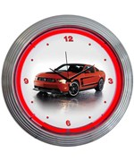 Ford Mustang Boss 302 Neon Clock by Neonetics