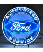 Ford Neon Sign with Silk Screen Backing by Neonetics