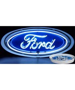 Ford Oval Neon Sign in Metal Can by Neonetics