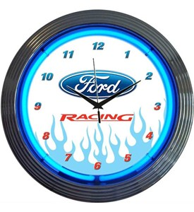 Ford Racing Neon Clock Image