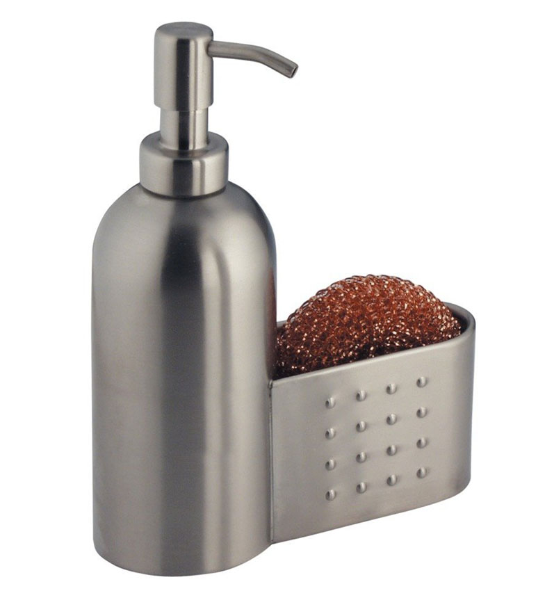 Stainless soap pump with sponge holder in soap dispensers Dish soap dispenser