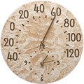 Outdoor Thermometer and Clock - Fossil Sumac