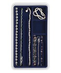 Four-Compartment Jewelry Organizer - Blue