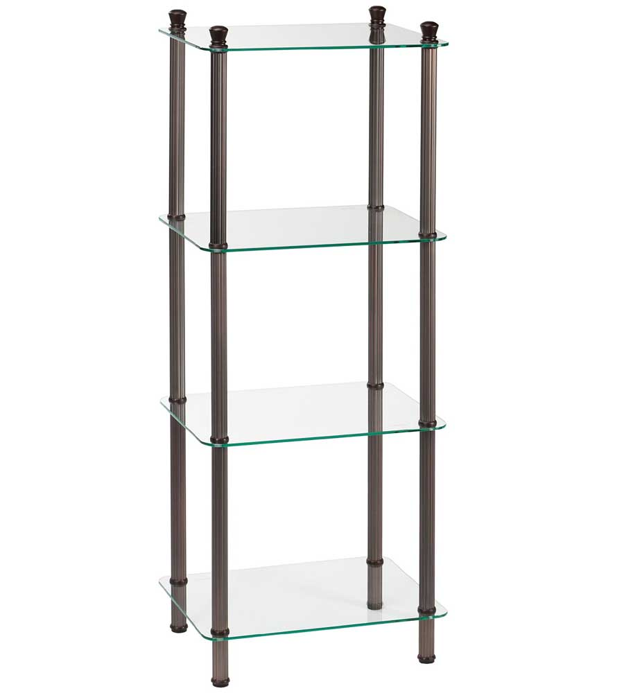 Four Tier Glass Bathroom Shelf ...