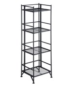 Four Tier Metal Folding Shelf by Convenience Concepts