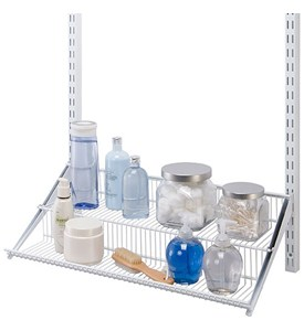 freedomRail Two-Tier Profile Wire Shelf - White Image