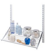 freedomRail Two-Tier Profile Wire Shelf - White