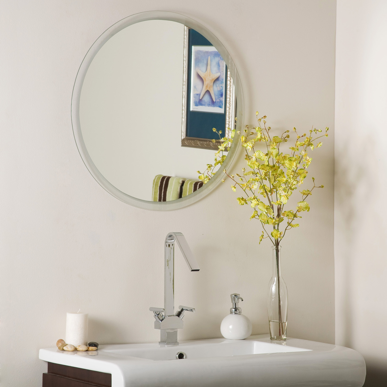 Frameless Beveled Wall Mirror In Frameless Mirrors