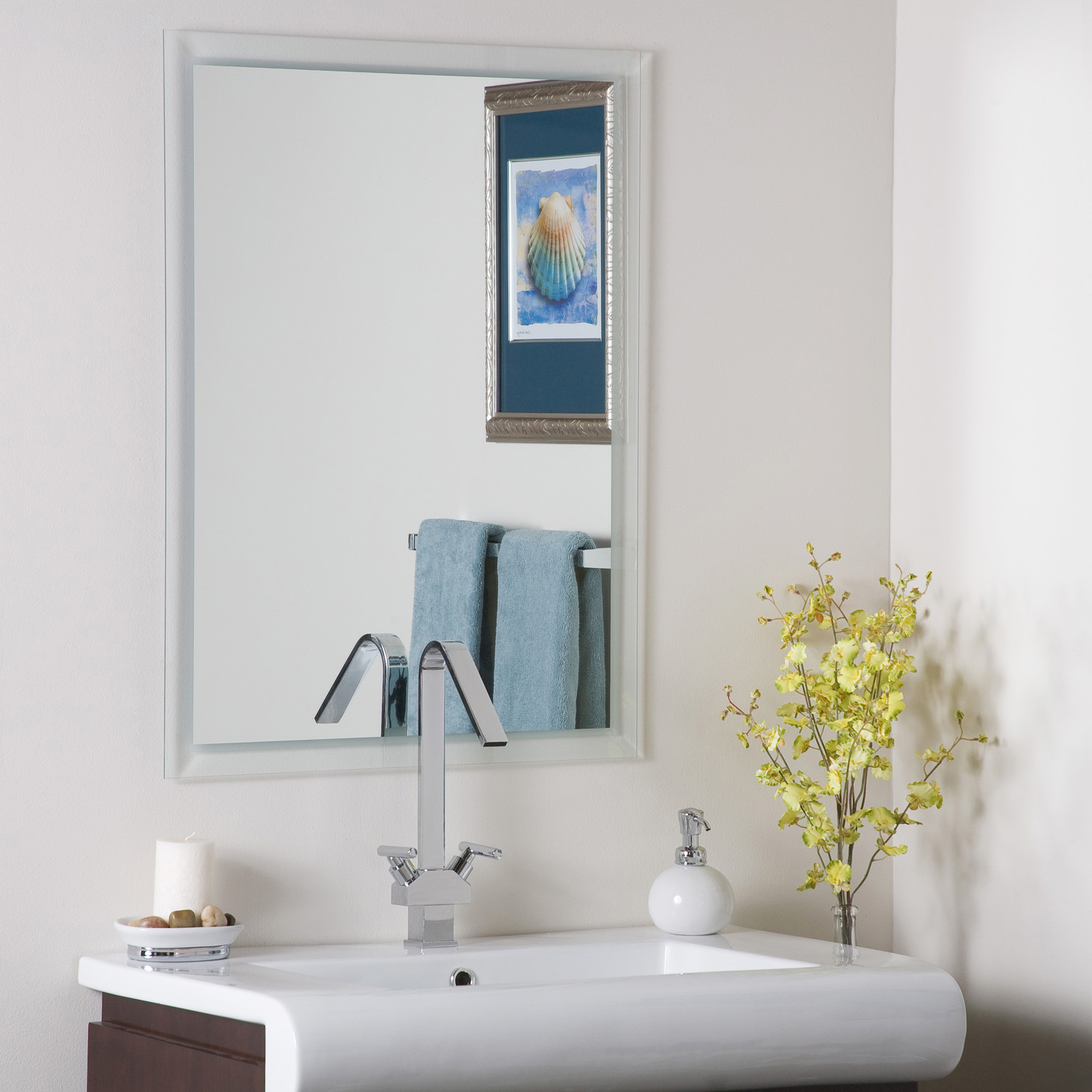 Wall mirror bathroom frameless in frameless mirrors for Bathroom wall mirrors