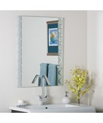 Frameless Modern Etch Mirror