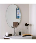 Frameless Oval Wave Wall Mirror
