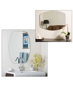 Frameless Scallop Wall Mirror