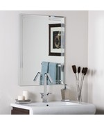 Frameless Tri Beveled Mirror