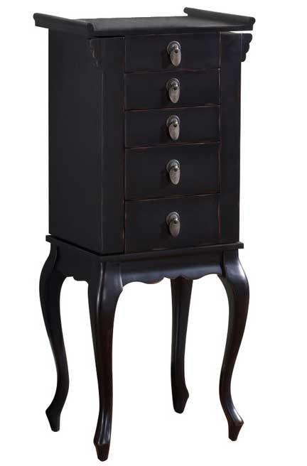 Free Standing Jewelry Armoire In Jewelry Armoires