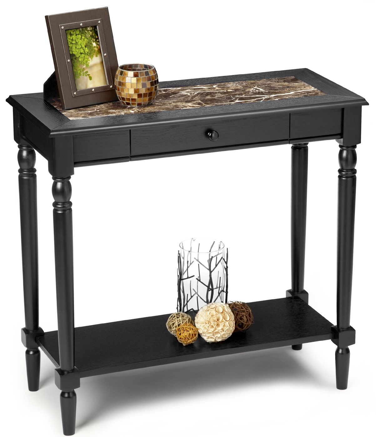 Foyer Furniture Walmart : French country faux marble foyer table by convenience