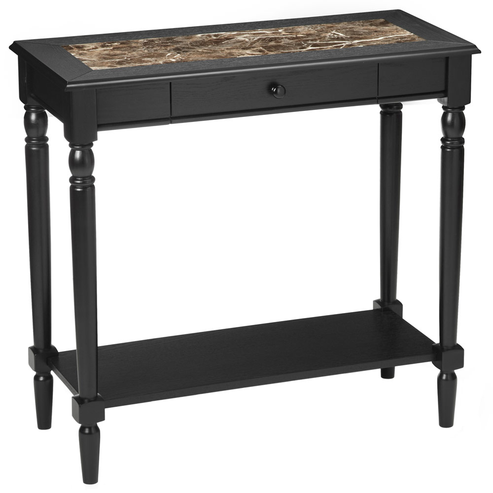 french country faux marble foyer table in accent tables. Black Bedroom Furniture Sets. Home Design Ideas