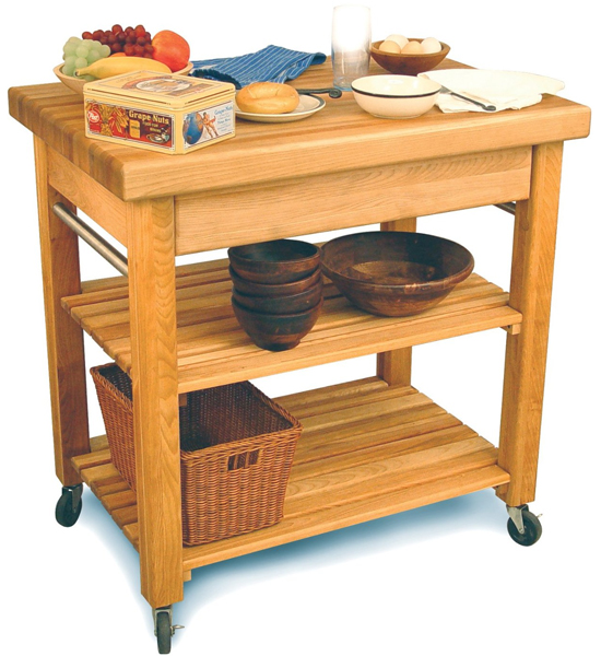 French Country Workcenter In Kitchen Island Carts