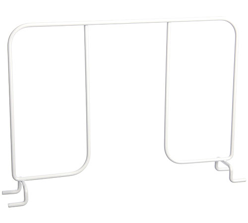 FreedomRail 12 Inch Wire Shelf Divider - White Image