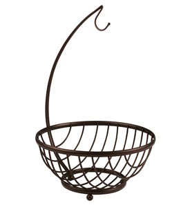 Fruit Basket Stand - Bronze Image