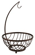 Fruit Basket Stand - Bronze