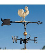 Full-Bodied Rooster Weathervane