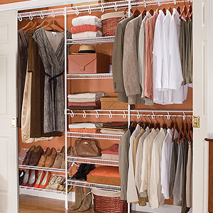wire closet shelving. combine the components of white wire shelving system to create a completely custom storage solution for linen, reach-in or walk-in closets pantries. closet e