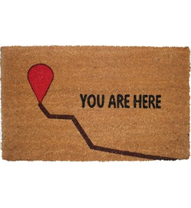 Funny Coir Doormat - You Are Here Image